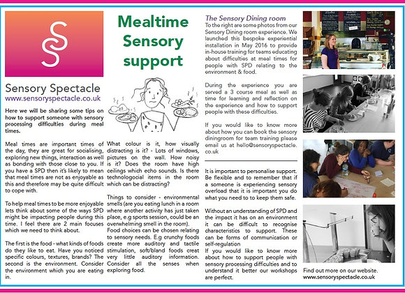 Supporting Sensory needs during mealtimes