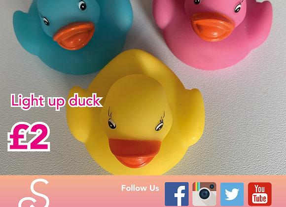 Touch sensitive light up duck