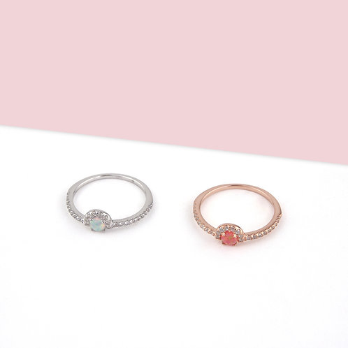 Stackable Zirconia Stone Ring
