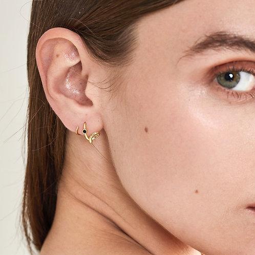 Pollock Spiral Earrings