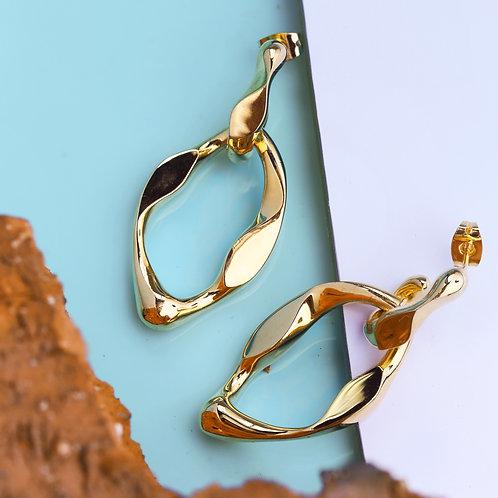 Twisted Chain Drop Earrings