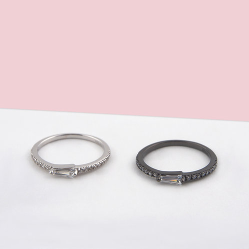 Stackable Baguette Zirconia Ring