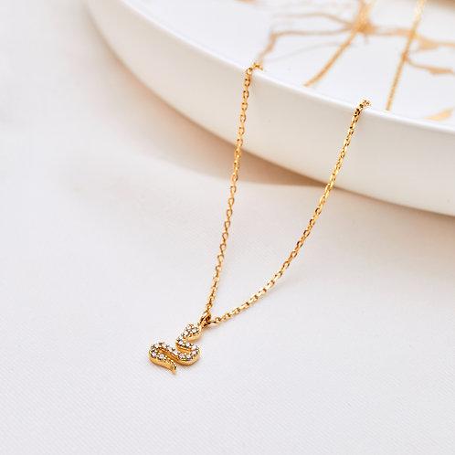 Dainty Sparkling Snake Necklace