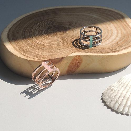 Baguette Triple Layer Ring