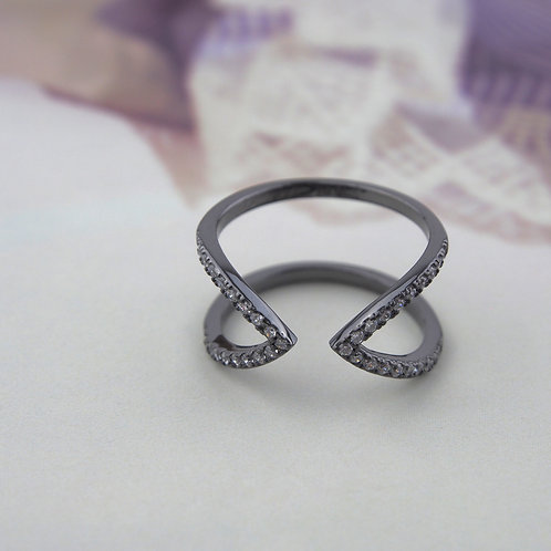 Stackable Zirconia Double Layer Ring