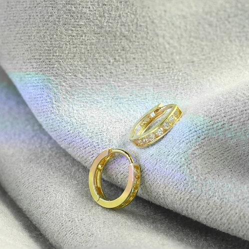 10 Karat Huggie Earrings in Yellow or White Gold