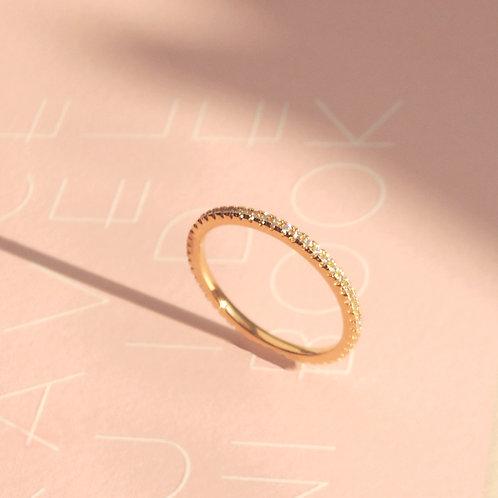 Stackable Infinity Zirconia Ring