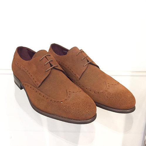 Borgioli Stamped Suede Brogue