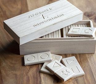 Dřevěné domino s vlastním věnováním