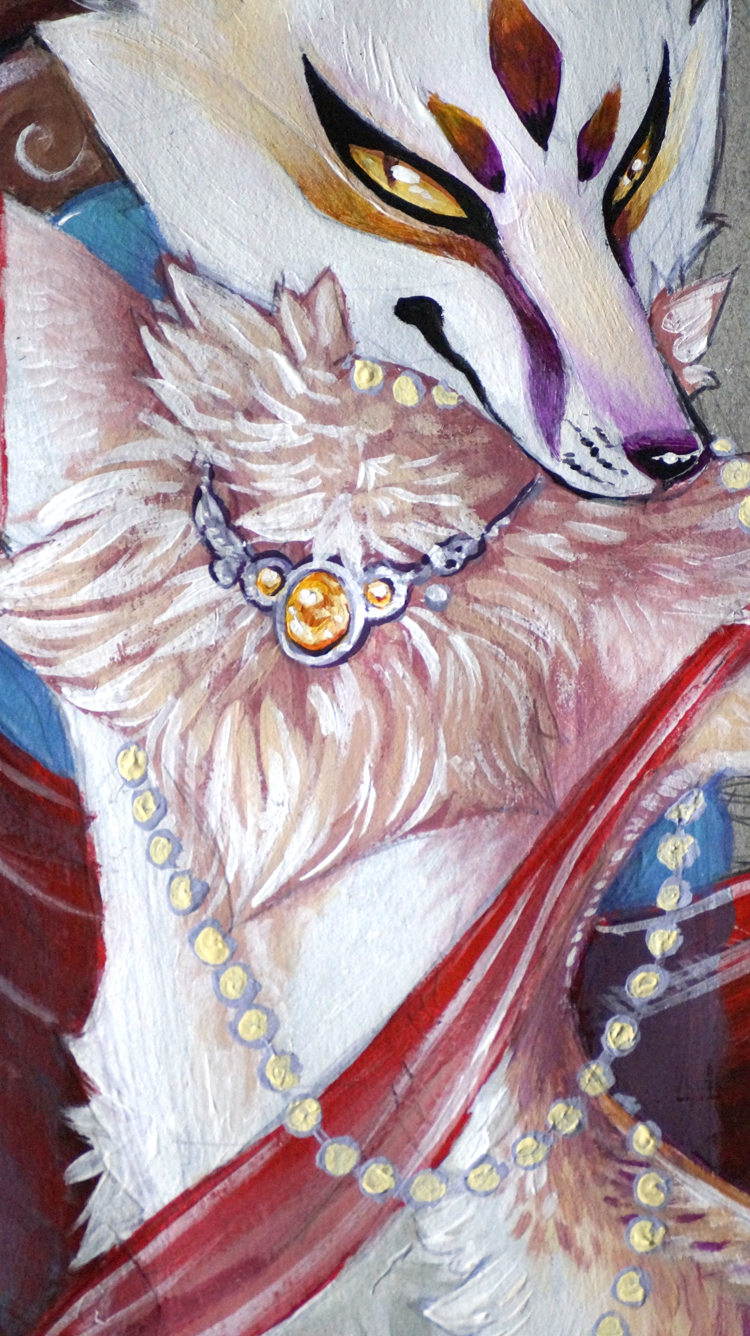 jewelry kitsune close up
