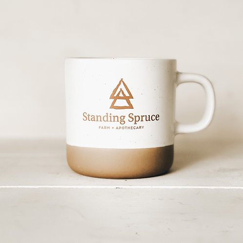 Standing Spruce vanilla oat mug