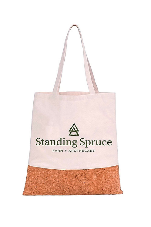Standing Spruce Cotton Tote