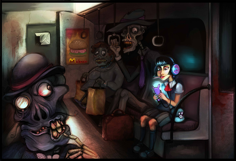 Zombies on a train
