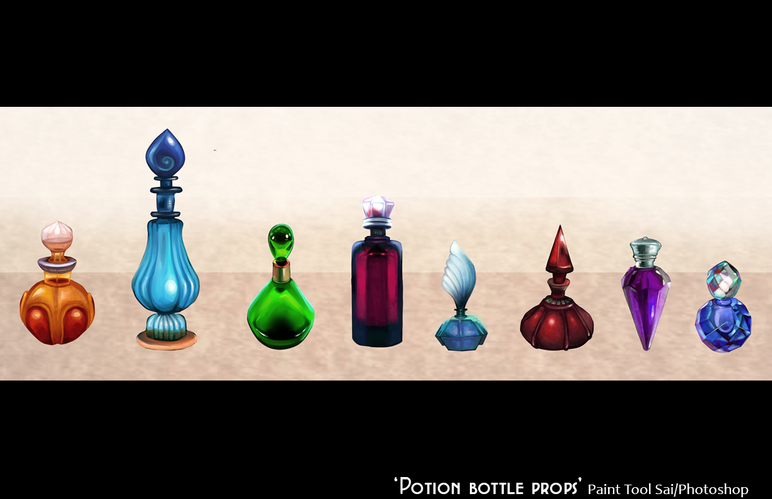 Prop design (potions)