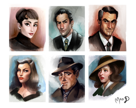 Hollywood Golden Age Cartoon Portraits