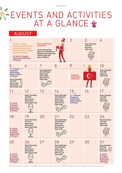 Swiss Club Events Calendar
