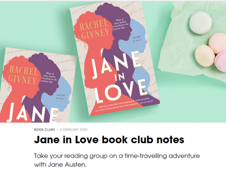 Jane in Love book club notes