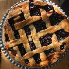 Blueberry pie with lattice