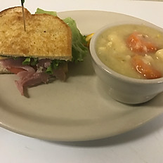 ½ Sandwich & Soup Or Salad