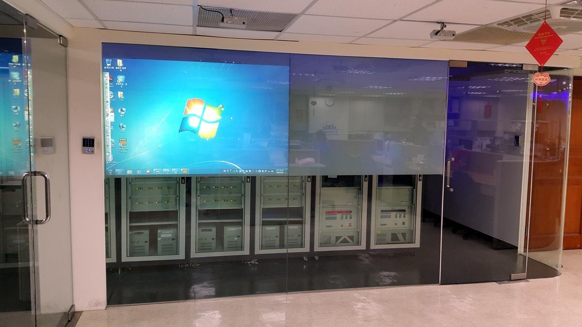電控薄膜投影與互動導覽軟體-良福保全UBOBI