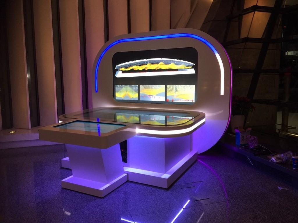 桃園機場時光導覽機-互動模型台