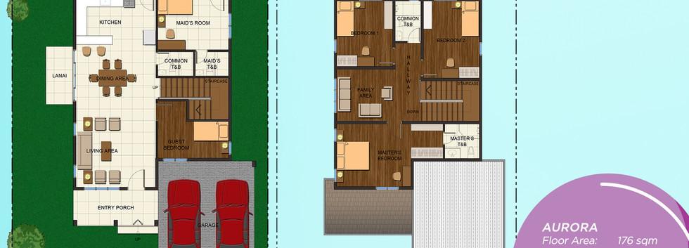 Aurora Rendered Floor Plan