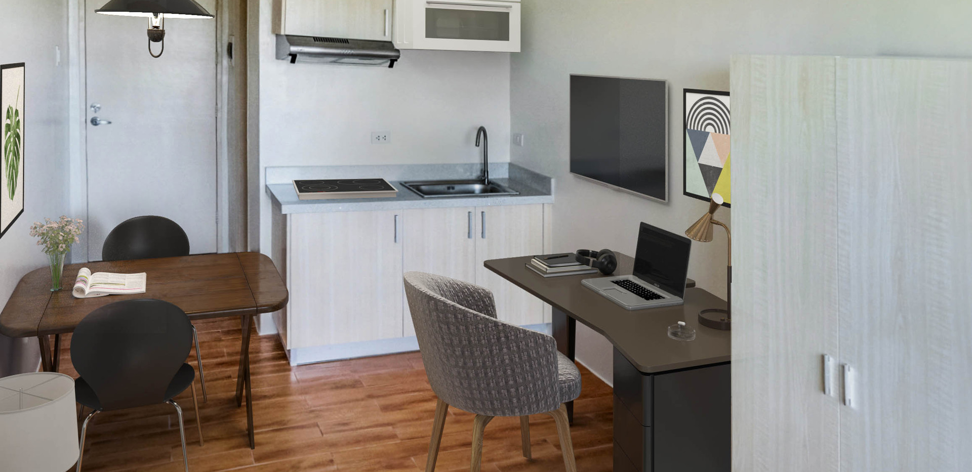 Studio Unit Dining and Kitchen Space