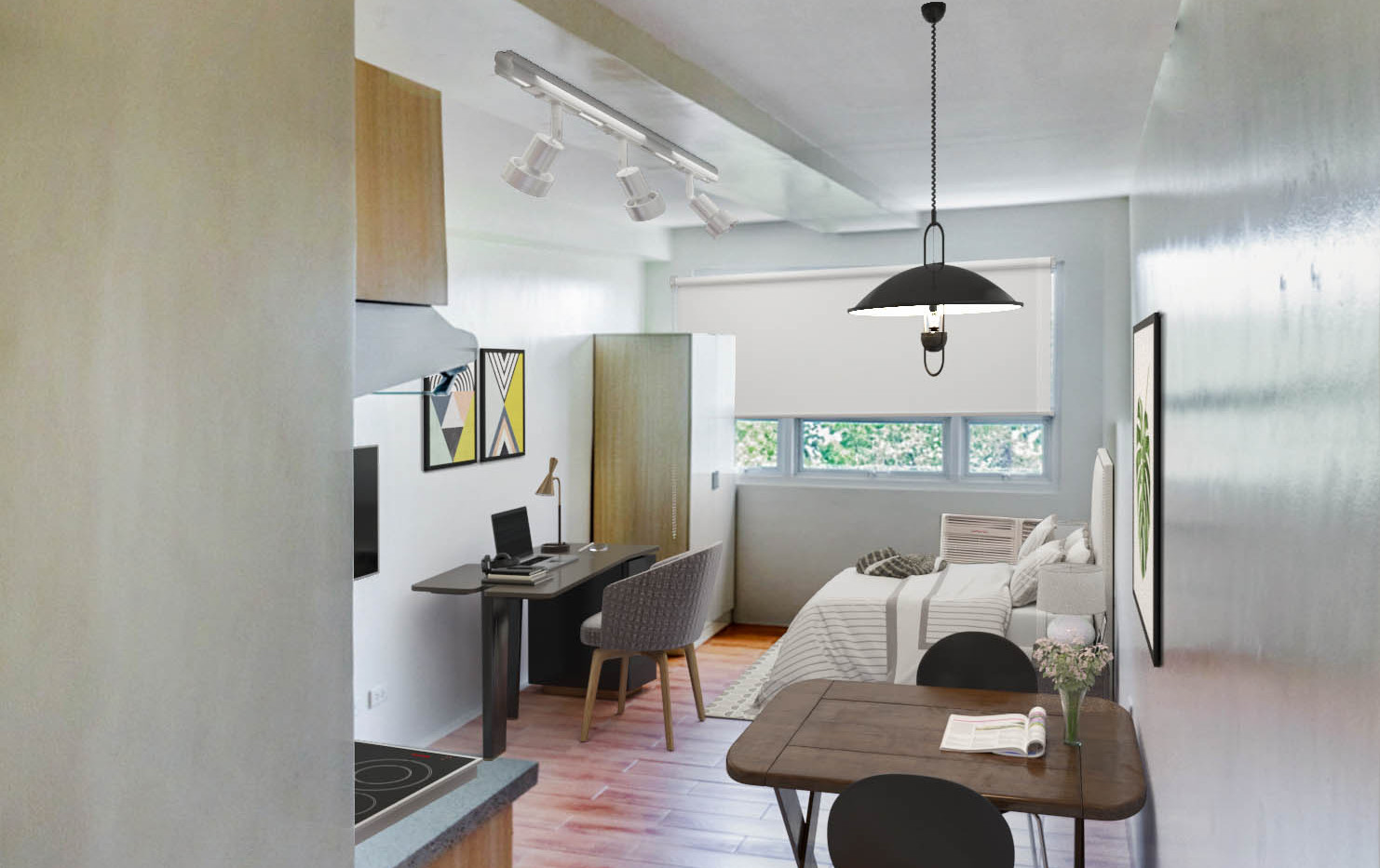 Studio Unit Living and Dining Space