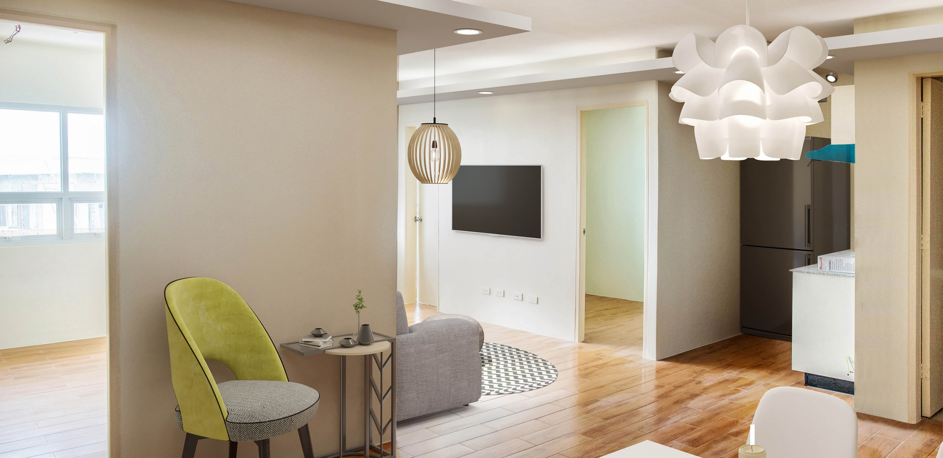 3-Bedroom Unit Living Space