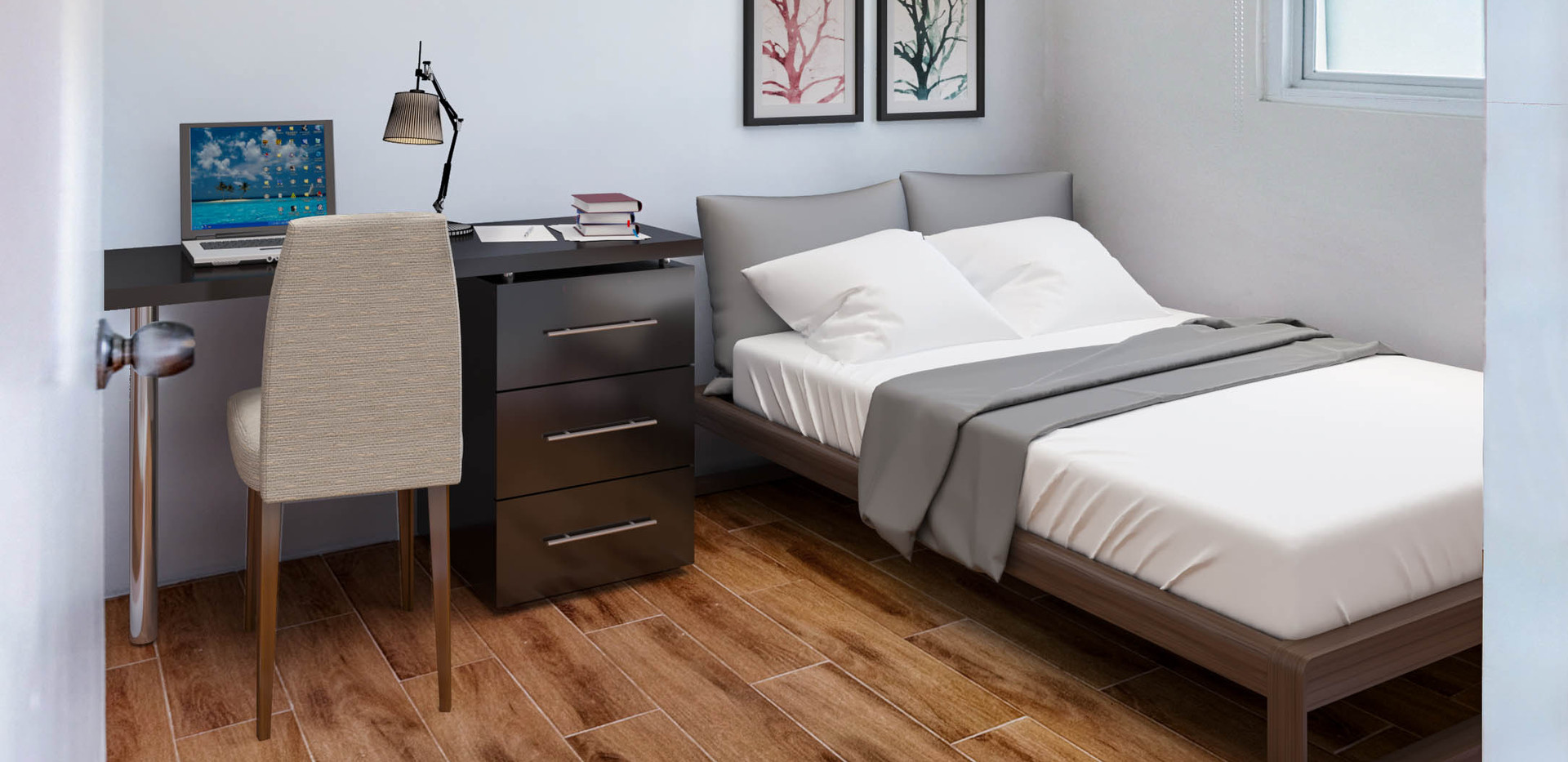 Bi-Level Unit Second Bedroom