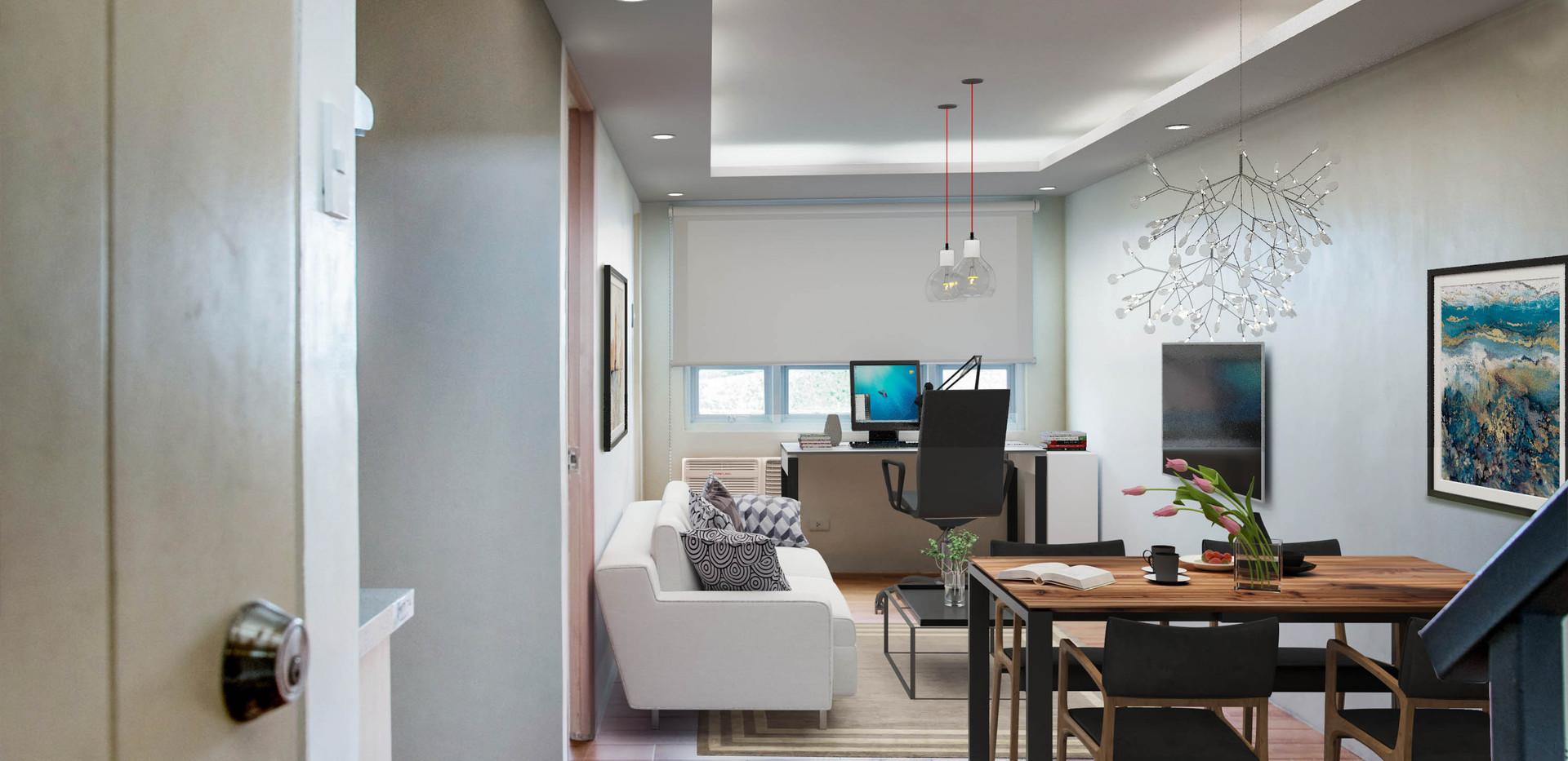 Bi-Level Unit Living Room