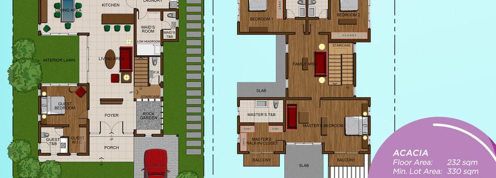 Acacia Rendered Floor Plan