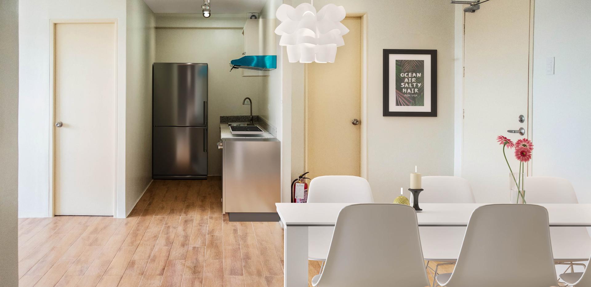3-Bedroom Unit Dining Area Overlooking Kitchen Area
