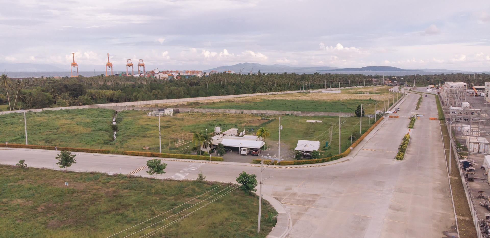 AIE Aerial View of Admin Building and Main Entrance Road