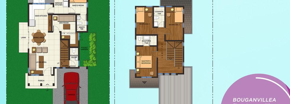 Bougainvillea Rendered Floor Plan