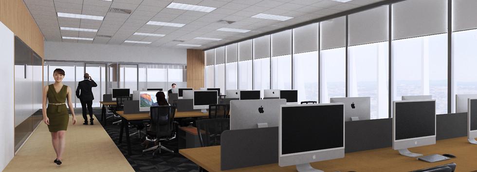 Damosa Diamond Tower - Office Perspective