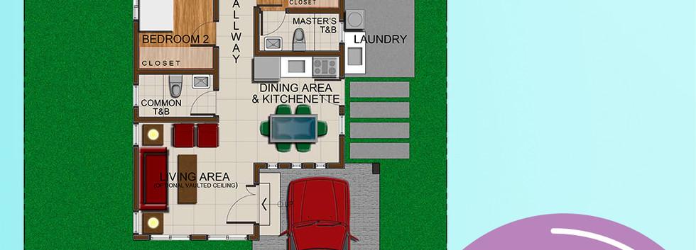 Magnolia Rendered Floor Plan