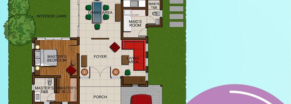Molave Rendered Floor Plan