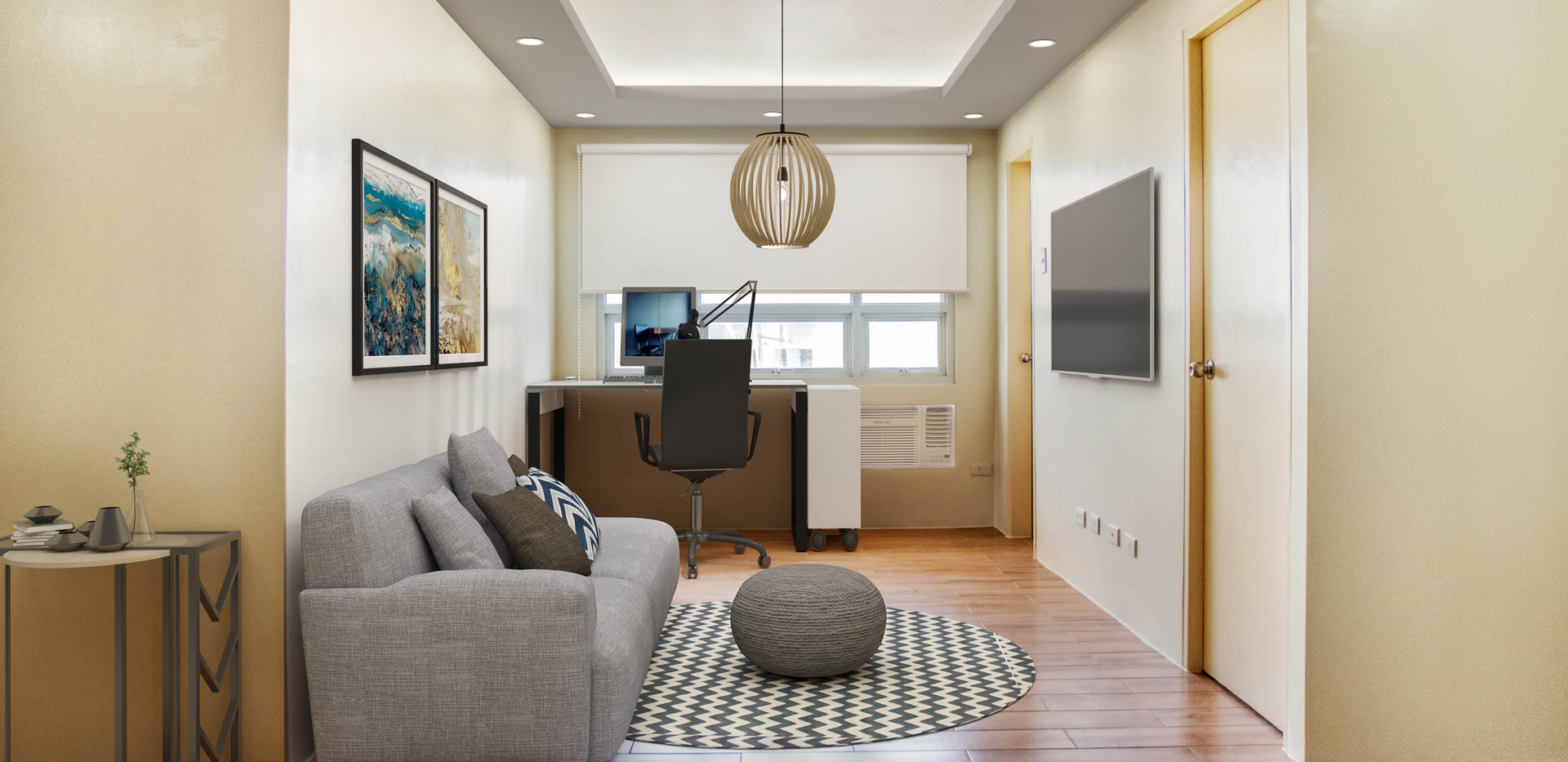3-Bedroom Unit Living Room