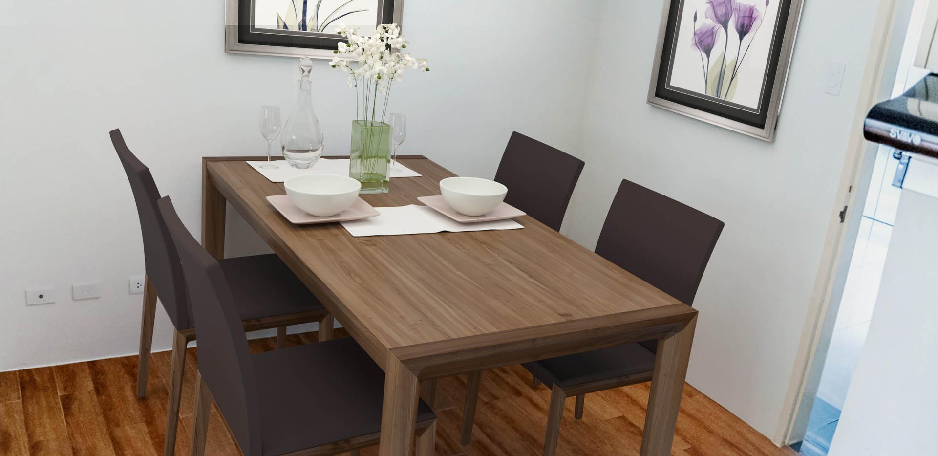 2-Bedroom Unit Dining Area