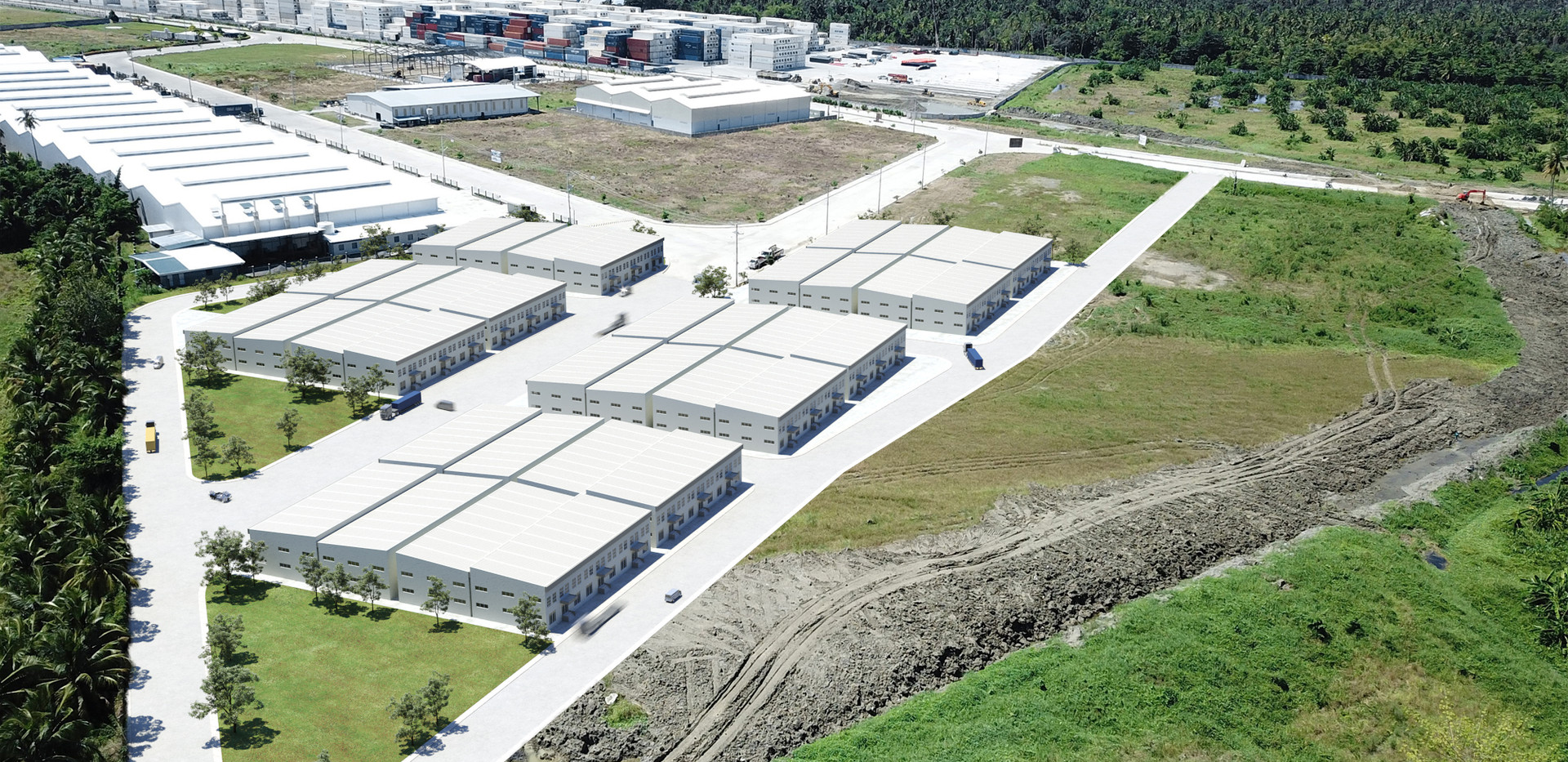 Ready Built Factories Complex Render