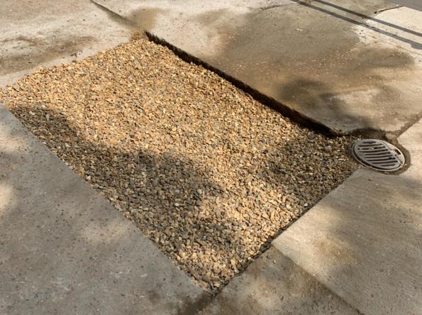 aco drain into soakaway installation