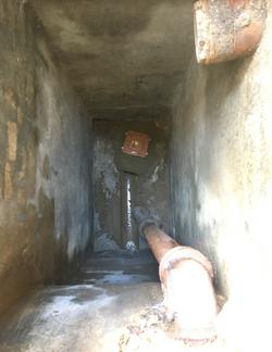 Non-return valve installed