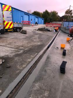 ACO drainage installed