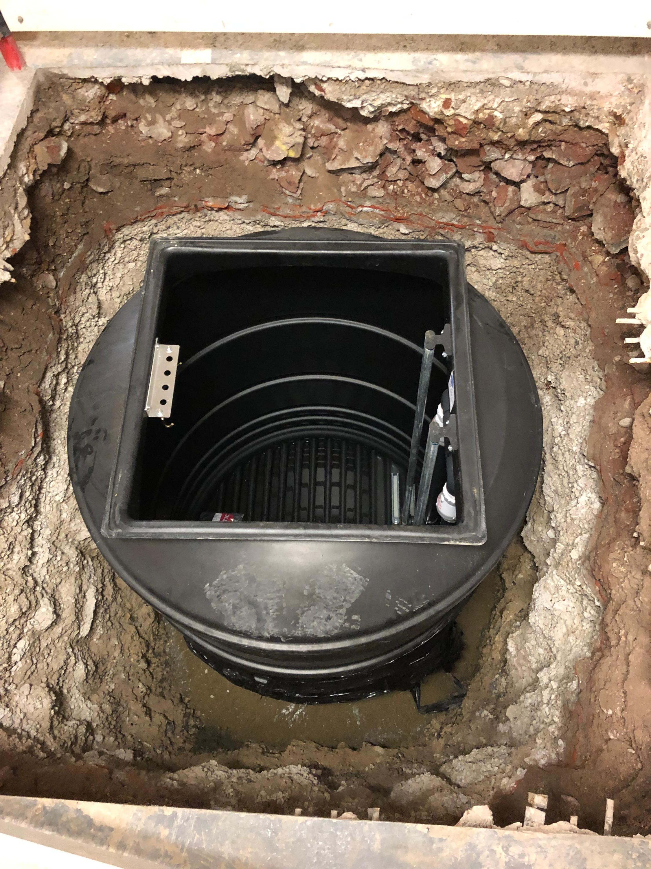 sewage pumping chamber