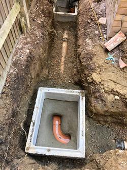 main drainage installation