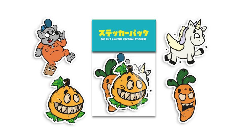 MERIO'S WORLD DIE CUT Limited Edition Stickers
