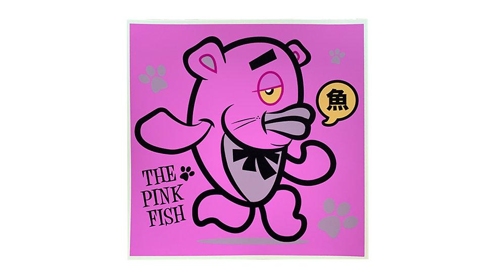 MERIOONE PINK PANTHER FISH / SERIGRAPH