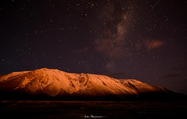 Luz en la montaña.