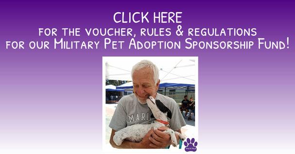 Traci's Paws Military Pet Adoption Spons